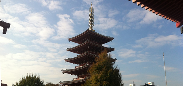 five-storied pagoda panorama