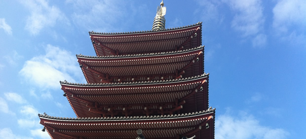 five-storied pagoda raise